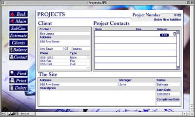 Projects FileMaker 6