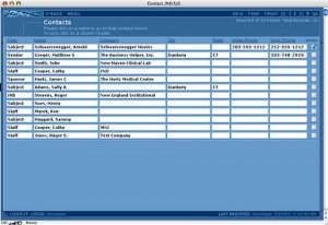 Contact List View